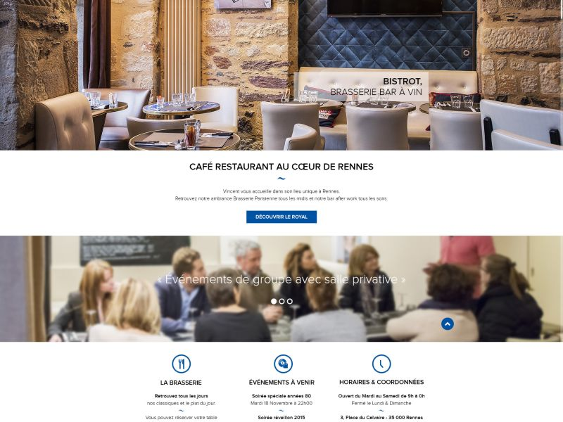 Lancement du site Bar Le Royal