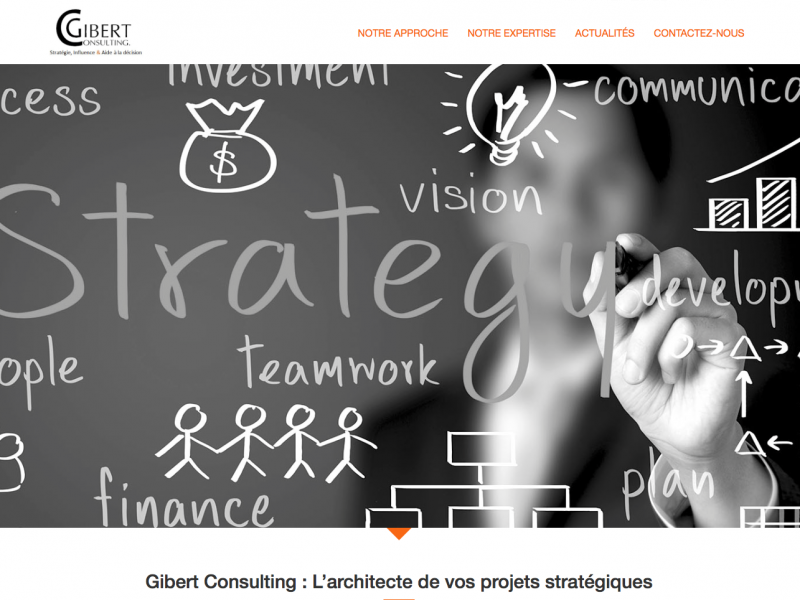 Lancement du site Gibert Consulting