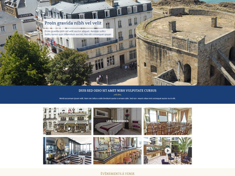 Lancement des sites Hotels Saint-Malo